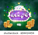 the word jackpot  surrounded by ... | Shutterstock .eps vector #604414454