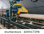 Sawmill. Process Of Machining...