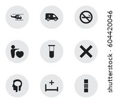 set of 9 editable clinic icons. ...