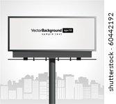 billboard with urban horizon... | Shutterstock .eps vector #60442192