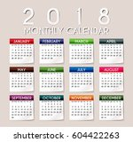 simple 2018 year vector... | Shutterstock .eps vector #604422263