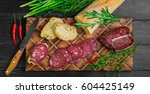 small antipasto sandwiches from ... | Shutterstock . vector #604425149