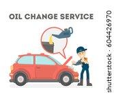 oil change service on white... | Shutterstock .eps vector #604426970