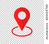 pin icon vector. location sign... | Shutterstock .eps vector #604429700
