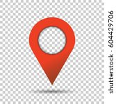 pin icon vector. location sign... | Shutterstock .eps vector #604429706