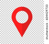pin icon vector. location sign... | Shutterstock .eps vector #604429733