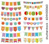 Bunting Flags Kid Party Vector...