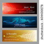 sound wave banners. digital... | Shutterstock .eps vector #604430078