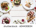 appetizing frame of restaurant... | Shutterstock . vector #604430834