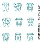 tooth logo set. vector... | Shutterstock .eps vector #604431134