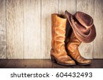 wild west retro leather cowboy... | Shutterstock . vector #604432493