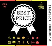 best price label icon with... | Shutterstock .eps vector #604434968