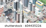 isometric contemporary city... | Shutterstock .eps vector #604435226