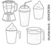 vector set of smoothie | Shutterstock .eps vector #604439384