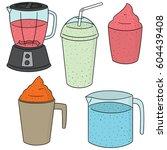 vector set of smoothie | Shutterstock .eps vector #604439408