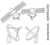 vector set of satellite | Shutterstock .eps vector #604441250