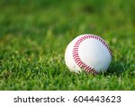 baseball on the clear green... | Shutterstock . vector #604443623