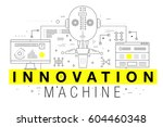 trendy yellow innovation... | Shutterstock .eps vector #604460348