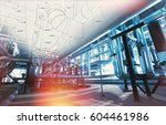 background of mechanical... | Shutterstock . vector #604461986