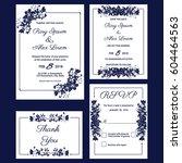 wedding invitation card... | Shutterstock .eps vector #604464563