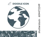 doodle globe   Shutterstock .eps vector #604472249