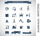 oil industry and petrol icon... | Shutterstock .eps vector #604472960