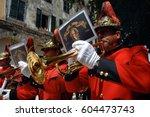 corfu  greece  april 20  2008 ... | Shutterstock . vector #604473743