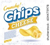 potato chips. package design.... | Shutterstock .eps vector #604475978