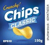 potato chips. package design.... | Shutterstock .eps vector #604476014