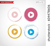 colored icon of play symbol... | Shutterstock .eps vector #604478606