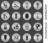 set of 16  hairdresser icons....