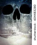 horror skull scary background... | Shutterstock . vector #604483280