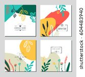 set of business card template... | Shutterstock .eps vector #604483940