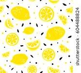 Lemonade Seamless Pattern With...