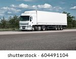 truck on road  blue sky  cargo... | Shutterstock . vector #604491104