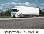 Truck On Road  Blue Sky  Cargo...