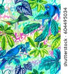amazing seamless pattern with... | Shutterstock . vector #604495034