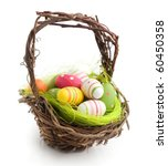 Colorful Painted Easter Eggs In ...