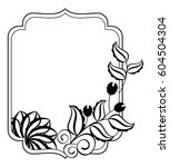 black and white frame with... | Shutterstock .eps vector #604504304