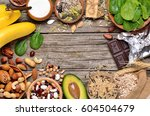 healthy food. foods containing... | Shutterstock . vector #604504679