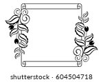 paper roll  with flowers... | Shutterstock .eps vector #604504718