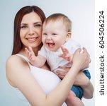 studio portrait of a happy... | Shutterstock . vector #604506224