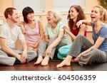 senior woman full of vitality... | Shutterstock . vector #604506359