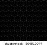 black abstract square polygon... | Shutterstock .eps vector #604510049
