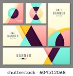 set of banner templates. bright ... | Shutterstock .eps vector #604512068