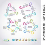 collection of vector... | Shutterstock .eps vector #604515638