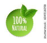 natural label with gradient... | Shutterstock .eps vector #604516058