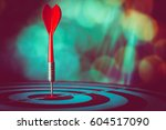 bullseye is a target of... | Shutterstock . vector #604517090