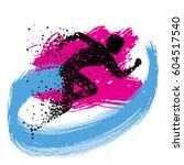 running man. sport fitness... | Shutterstock .eps vector #604517540