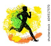 running man. sport fitness... | Shutterstock .eps vector #604517570